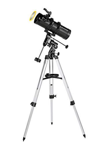 Bresser Pluto 114/500 EQ Telescopio con Adaptador de Cámara de Smartphone