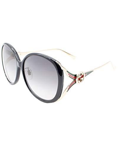 Gucci GG 0226 SK- 001 BLACK / GREY GOLD Sunglasses