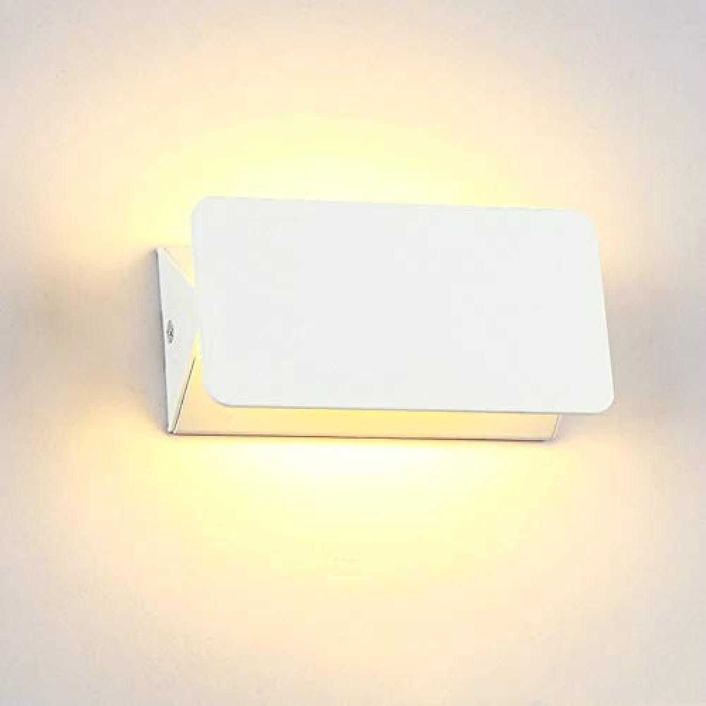 Wandleuchten luckyNO.1 Acier Inoxydable De Jardin De Lecture De Lit Imperméable Extérieur D'Intérieur De Led, Lumière Chaude Weißhe, 16  8  6Cm Wandlampe