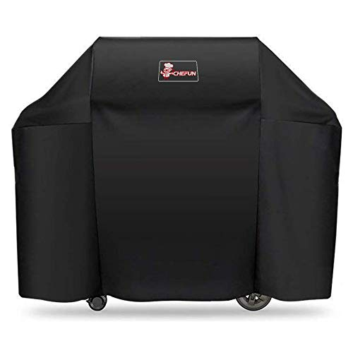 CHEFUN 7130 Grill Cover for Weber Genesis II 3 Burner Grill and Genesis 300 Series Grills,58 x 44.5-Inch Heavy Duty Waterproof & Weather Resistant Outdoor Barbeque Grill Cover Covers Grill