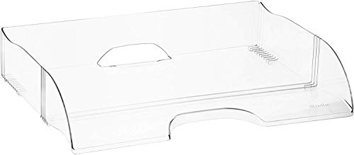 Rotho Timeless Briefablage quer, Kunststoff (PS) BPA-frei, transparent, A4 (32,7 x 23,4 x 6,4 cm)