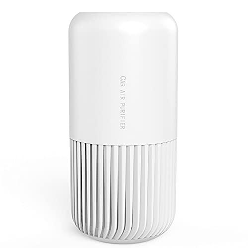 Botitu Purificatore d'Aria Muto per Uso Domestico, Auto USB Piccolo desodorante Deodorante con Filtro, Adatto per Camera da Letto Ufficio,Bianca