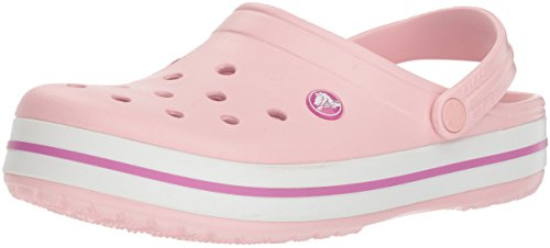 Crocs Crocband Unisex, Zuecos Mujer, Pearl Pink/Wild Orchid, 39/40 EU