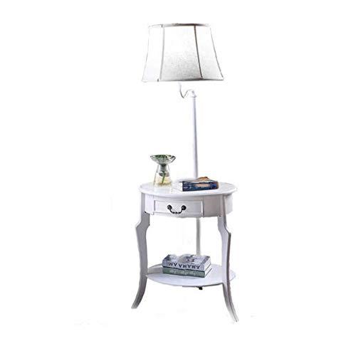 Super Bright staande lamp bijzettafel met planken voor woonkamer sofa's opslag salontafel staande lamp met lade lamp