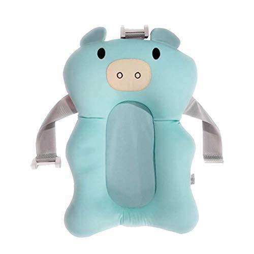 JiuRong Cojín plegable para bañera de bebé con diseño de cerdo recién...