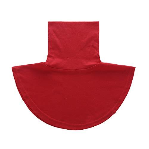 Agoky Damen Kragen Universal Abnehmbare Hälfte Unterhemd Shirt Bluse Tops aus Baumwolle in Weiß/Schwarz/Grau Rot Stehkragen One Size