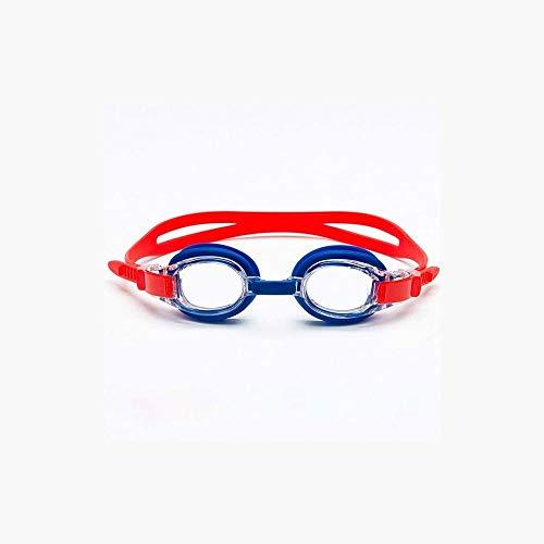 Cfilet Gafas para niños Nadando, visión Clara, Silicona Suave, Gafas de Piscina Anti-Niebla. (Color : Red)