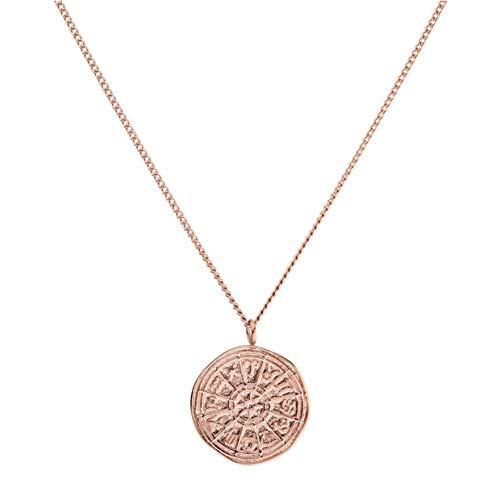 PURELEI® Zodiac Halskette (Gold, Silber & Rosegold) Mit Anhänger (40 cm Länge) (Rosegold)