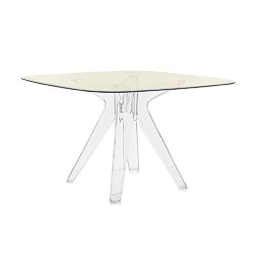Kartell Tavolo Sala da Pranzo, Sir Giò 327614, Cristallo Giallo Trasparente