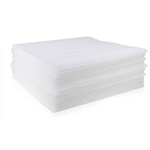 Starvast 100 hojas de espuma, 30 x 30 cm/12 x 12 pulgadas, hojas de papel de embalaje de espuma para mudanza, envío, embalaje, almacenamiento seguro de vasos, vajilla, etc.