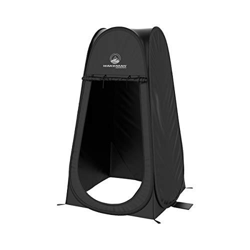Wakeman Outdoors - Bolsa de Transporte Plegable para Camping, Playa y Lluvia, Color Negro