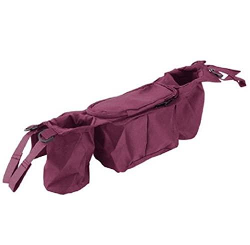 Aidou Bolsa de almacenamiento multifuncional para cochecito de bebé, bolsa de accesorios para cochecito de bebé, bolsa para colgar paletas, bolsa para pañales