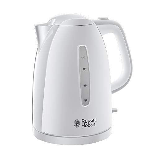 Russell Hobbs 21270 Textures Plastic Kettle, 1.7 Litre, 3000 W, White