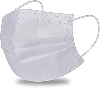 White Face mask - Sanita, Elastic and Nose Support - Box of 50 Pieces - Ministry Approval -