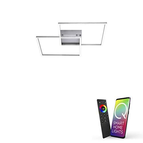 Paul Neuhaus, LED Deckenleuchte, Smart Home fähig, CCT Farbwechsel, dimmbar, inklusive Fernbedienung
