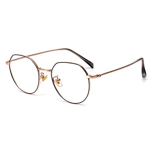 EYEphd Gafas de Lectura de luz Anti-Azul Poligonal de Las Mujeres, 1,56 Lector de Lentes de Resina asférica Adecuada para Oficina/Costura dioptrías +1.0 a +3.0,03,+2.25