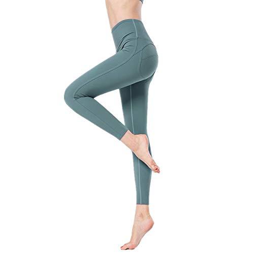 NIGHTMARE Pantalones de Yoga con Control de Abdomen, Control de Abdomen, Mallas de Entrenamiento para Correr para Mujeres, Entrenamiento, Correr, Estiramiento XL