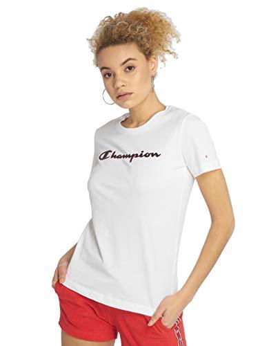 Champion T-Shirt Damen 111436 S19 WW001 WHT Weiss, Größe:M
