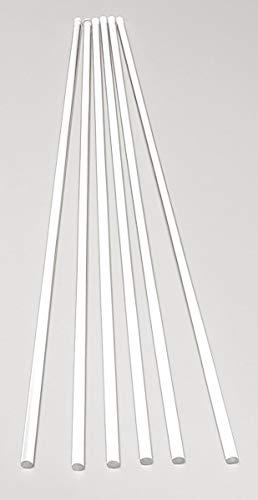 """6 Pcs 3 16"""" Diameter x 12"""" Long Clear Acrylic Plexiglass Plastic Rod - .1875  Dia - 4.76mm x 304.8mm"""