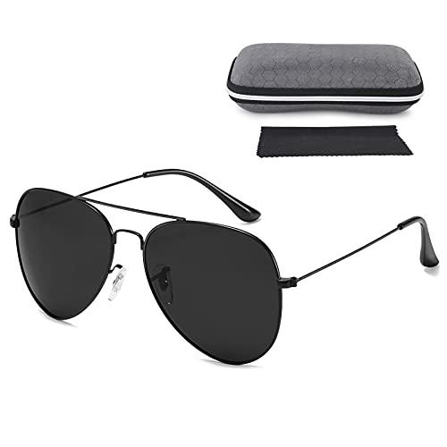 hicoosee Gafas de sol para Hombre y Mujer, Gafas de sol polarizadas Marco Ultraligero Protección UV400 Gafas de Sol con Montura Metálica