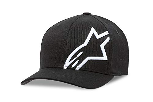 Alpinestars Herren corp shift 2 flexfit Cap Hat/Beanie Corp Shift 2 Flexfit, Schwarz (Black/White ), S/M