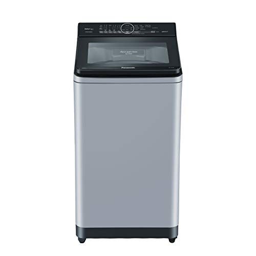 Panasonic 7 Kg 5 Star Built-In Heater Fully-Automatic Top Loading Washing Machine (NA-F70AH9MRB, Middle Free Silver, Active Foam System)