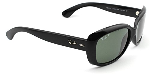 Ray-Ban RB4101 601/58 JACKIE OHH Sunglasses Black Frame / Polarized Green Lens