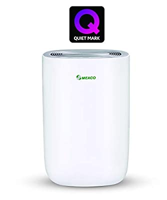 Meaco MeacoDry Dehumidifier ABC Range 10LS (Silver) Ultra-Quiet, Energy Efficient, Laundry Mode, Auto-off, Auto De-Frost - Ideal for Damp and Condensation in the Home