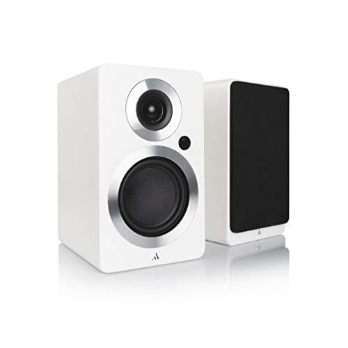 Argon Audio FORTE A4, 2 Bluetooth Lautsprecher mit Bluetooth aptX- und AAC-Unterstützung sowie Phono-Eingang Perfekt auch als TV-Soundsystem oder PC-Lautsprecher 2er-Set, A4 (Weiß)