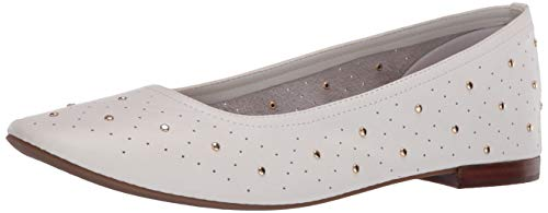 Aerosoles Women's Ballet Flat, White Leather, 8 B (M)