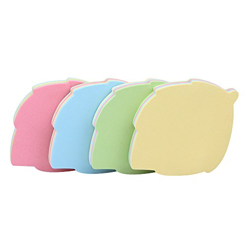 GTHER Leaf Shaped Sticky Notes, Self Stick Notes Self-Adhesive Sticky Note Cute Notepads Posted Writing Pads Stickers Paper (4 Pads, Leaf)
