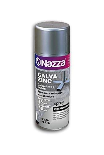 Spray Galvanizado en Frío | Galvazinc Plata | Especialmente indicado para proteger al metal | Formato de 400 Ml.