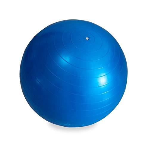 Riscko Pelota Ejercicios de Yoga, Pilates, Embarazo, Estiramiento con Hinchador Azul 55cm.