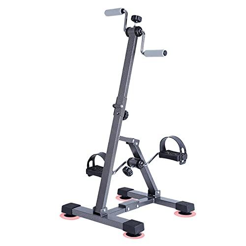 HXFENA Bicicleta Estática, Entrenador De Pies Y Manos Plegables con Resistencia Variable, Bicicleta De Rehabilitacion De Entrenamiento De Ejercicio Físico para Ancianos Discapacitados
