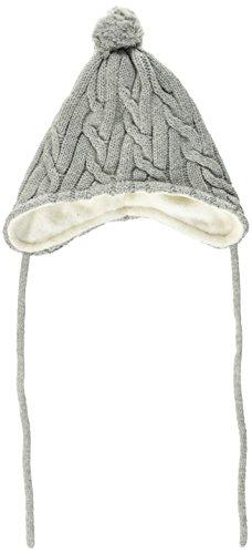 Sterntaler Baby-Mädchen Strickmütze Mütze, Grau (Silber Mel. 542), 39