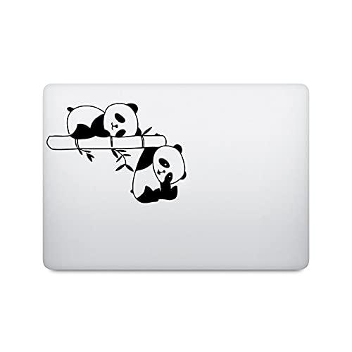 Adhesivo para portátil con diseño de panda para MacBook Pro Air Retina 11 12 16 pulgadas Touch Bar 13 15 pulgadas Mac Book Skin 14 pulgadas HP Notebook Decal-Black Decal-Other 13 pulgadas Laptop