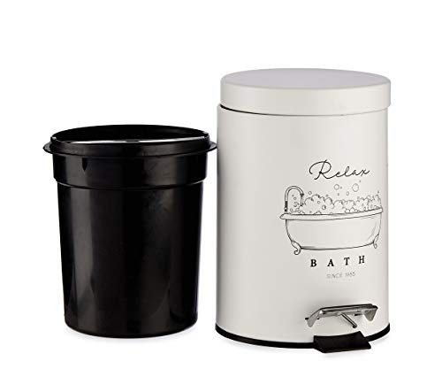 Berilo Papelera Baño. Cubo Basura Baño 3l. Cubos de Basura para Baños Complementos. (M1)
