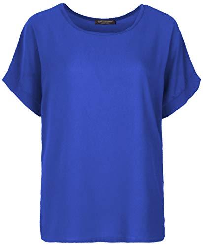 Emma & Giovanni - T-Shirt/Oberteile Kurzarm Segelstoffe - Damen (Elektrisches Blau, 40/42 (Etikett M))