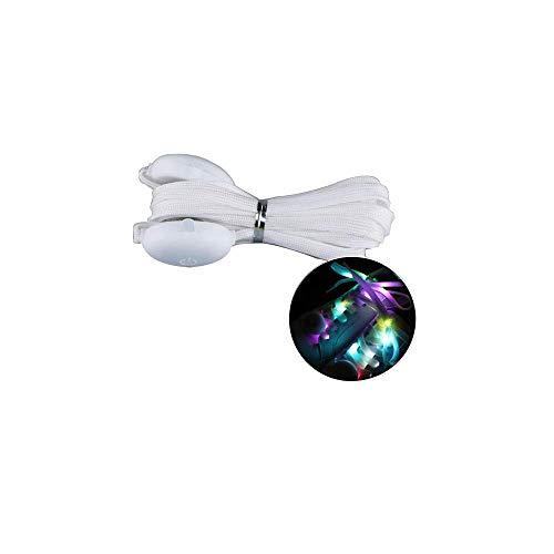 LED-Schnürsenkel, Nylon, blinkende Schnürsenkel mit vier Modi, für Party, Hip-Hop, Wandern, Tanzen, Laufen (1 Paar, 120 cm)