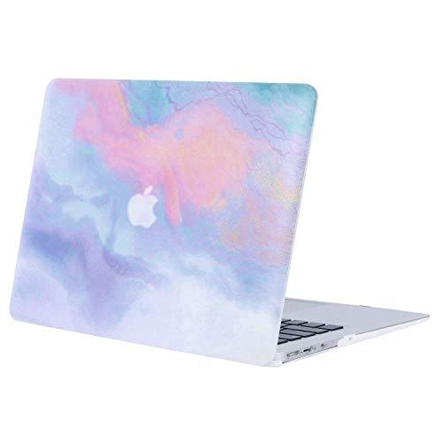 MOSISO Hülle Kompatibel mit MacBook Air 13 - Ultra Slim Plastik Matt Hartschale Hülle mit Muster Kompatibel mit MacBook Air 13 Zoll (A1369 / A1466, 2010-2017 Version), Bunte Wolken
