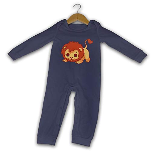 WushXiao Baby Lion Graphics Long Comfort Baby Crawler schwarz Gr. 12 Monate, navy