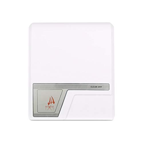 Händetrockner Elektrischer 1800w Smart Automatische Induktion Hochgeschwindigkeits-Heißwind-Lufttrockner Badezimmer-Toilette Auto (Color : White)