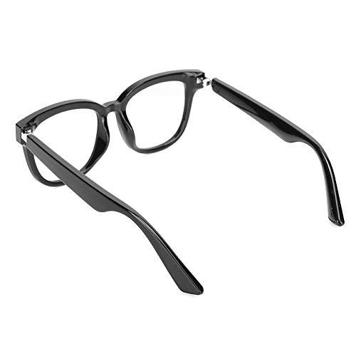 Raguso Gafas semiabiertas Llamada Bluetooth Durable Flexible Smart Anti-Blue Light Nylon para música Deportiva