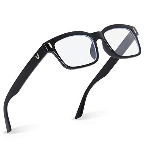 mujina PCメガネ JIS検査済み ブルーライトカット 70% UV420 紫外線カット透明レンズ 眼精疲労 視力保護 パソコン用 眼鏡 ケース クロス セット 男女兼用 (マットブラック)