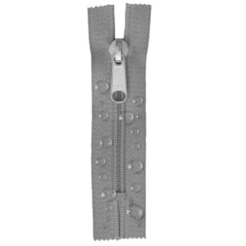 Zeltreißverschluss 190 cm grau