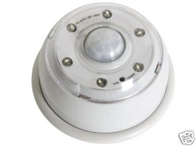 Lamp met 6 leds, bewegingsmelder, infrarood.