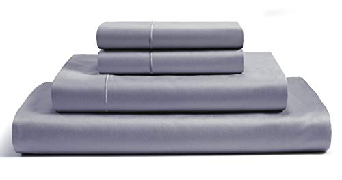 """CHATEAU HOME COLLECTION 4-Piece Sheet Set 100% Egyptian Cotton 800 Thread Count 16 inches Deep Pockets (fit Upto 18"""" mattresses) Solid Sateen Weave Hotel Luxury Soft Comfort Bedding (Queen, Charcoal)"""