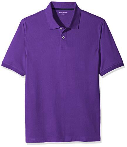 Amazon Essentials Men's Regular-Fit Cotton Pique Polo Shirt, Purple, X-Large