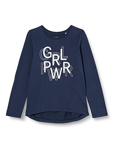 Sanetta Mädchen Shirt Midnight Volle Girlpower Dieses dunkelblaue Sweatshirt Athleisure-Kollektion ist zu Fast jedem Teil leicht zu kombinieren, blau, 152