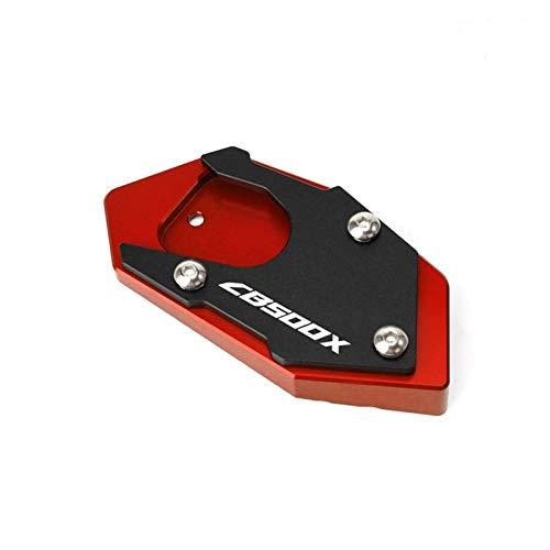 Para CB500X CB500F CB 500X CB 500F motocicleta CNC aluminio Kickstand pie pie lateral soporte soporte placa soporte soporte lateral (color: rojo, tamaño: CB500X)
